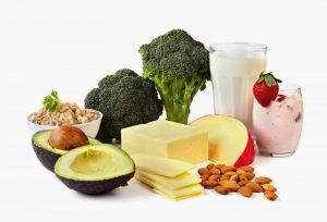Alimentos ricos em cálcio.